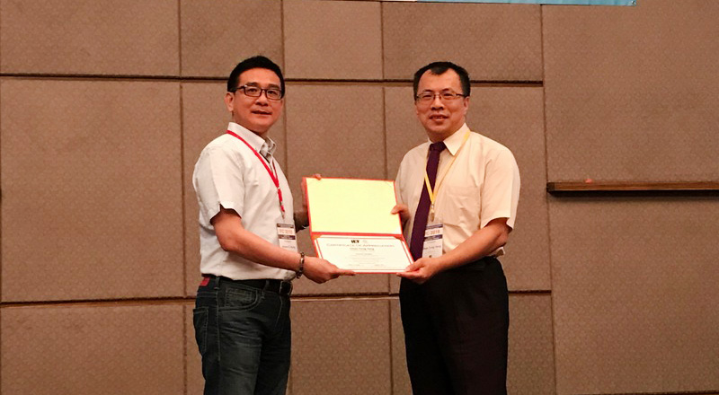 Distinguished Professor Chao-Tung Yang was invited to be the Keynote Speaker of the 2018 International Conference on Frontier Computing