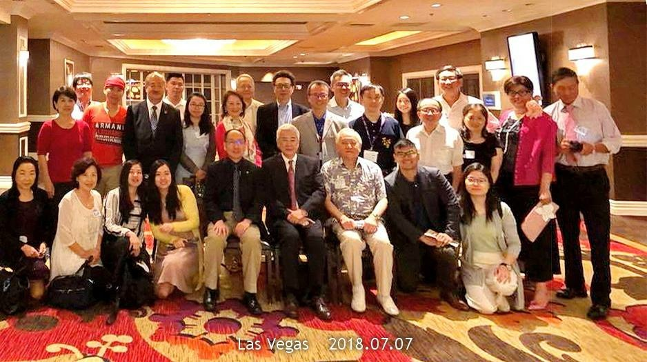 Chairman Ted C. Yang (front row, in the middle), President Mao-Jiun Wang (front row, on the left) and alumni from Northern and Sothern California.