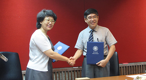 Signing a cooperation agreement