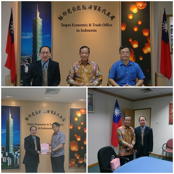 President Mao-Jiun Wang and Dean Hong-Wei Yen visited the Taipei Economic and Trade Office in Jakarta, Indonesia