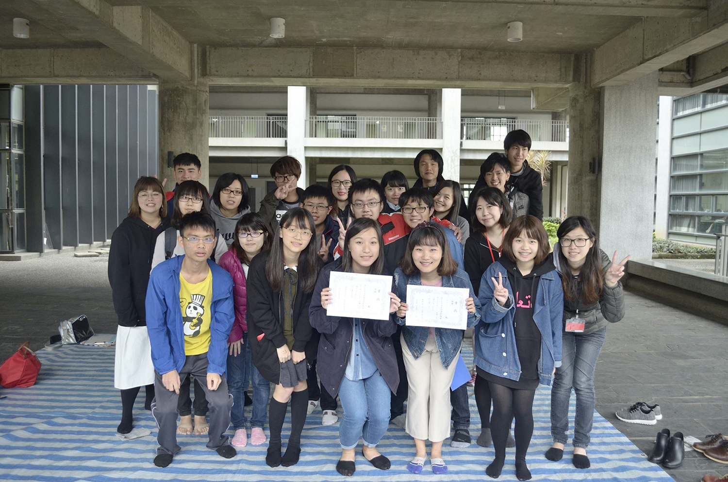 Tunghai students and students from Japan