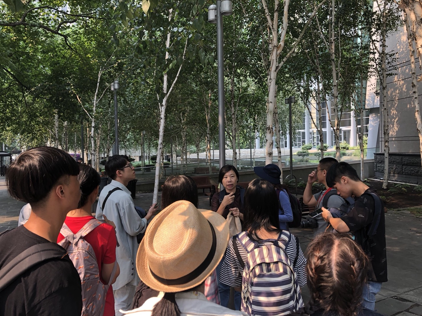 Walking through the city center, participants learned about the city  park system and the design of public spaces in Seattle on August 21.
