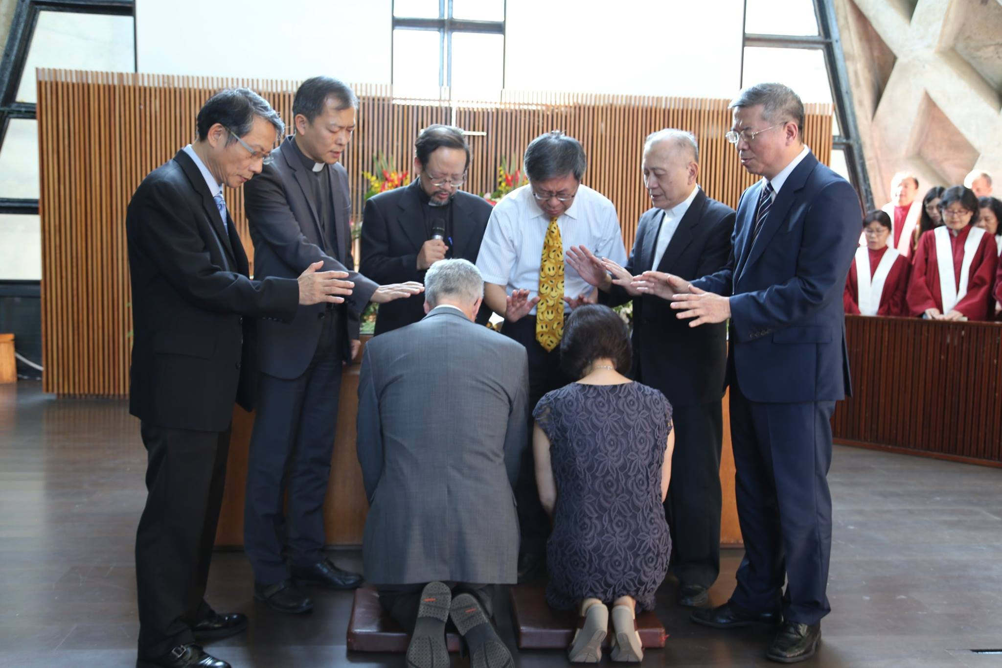 Inaugural Worship Ceremony for Tunghai's Pastor David Clotfelter