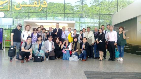 Photo of members of World Federation of Taiwan Alumni Association with Mr. Lin, Wei-Yang,  the representative of Taipei Economic and Cultural Office in Brunei Darussalam.