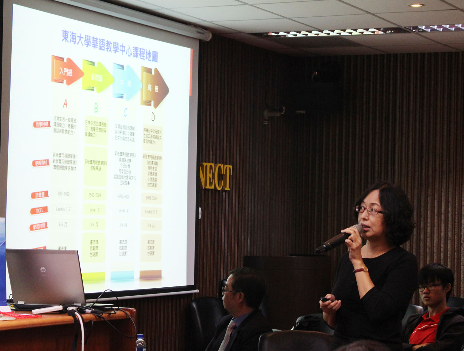 Prof. Qui-Gui Lai introduced Chinese Language Center