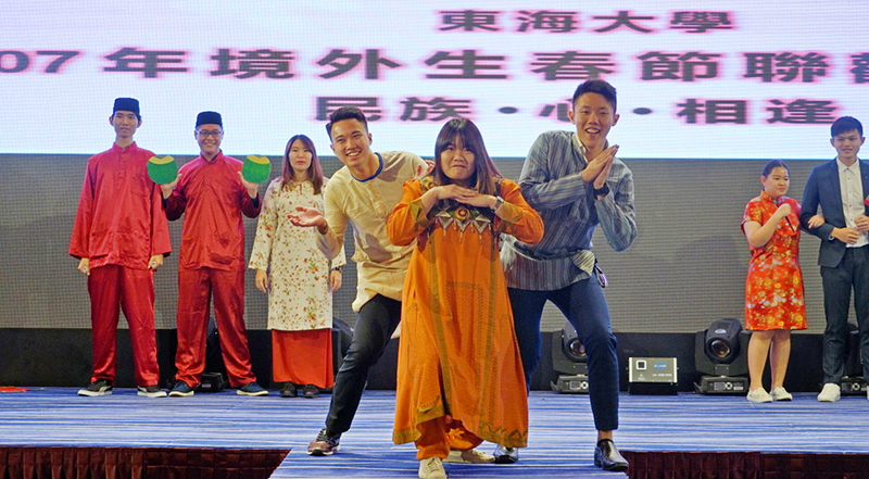 singing and dancing of foreign students