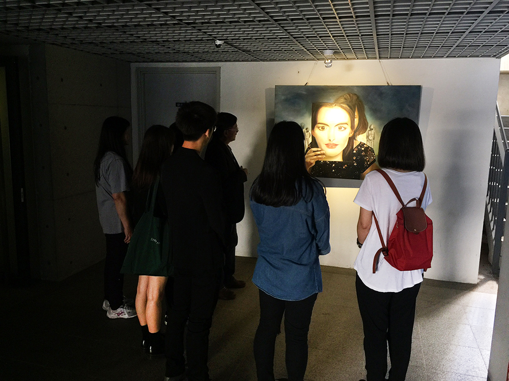Student dormitory changed into art gallery