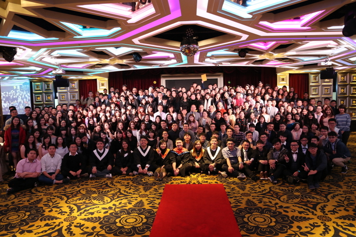 Group photo of students from Malaysia, Indonesia, the United States, Hong Kong and Macau, and China