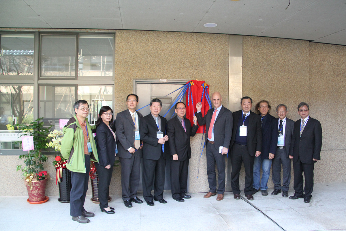 The Photo of representatives at the Opening Ceremony of the Tunghai University International Internship Center